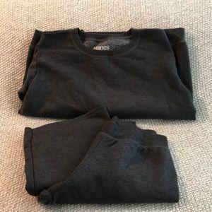 NWT- Hanes Gray sweatshirt and sweatpants